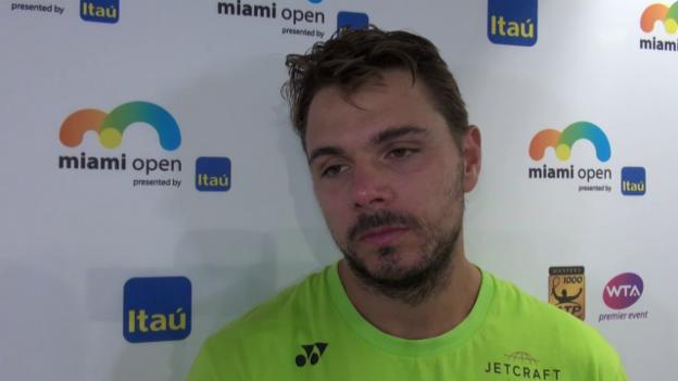 Video «Wawrinka: «Das war ein kompliziertes Match» (franz.)» abspielen