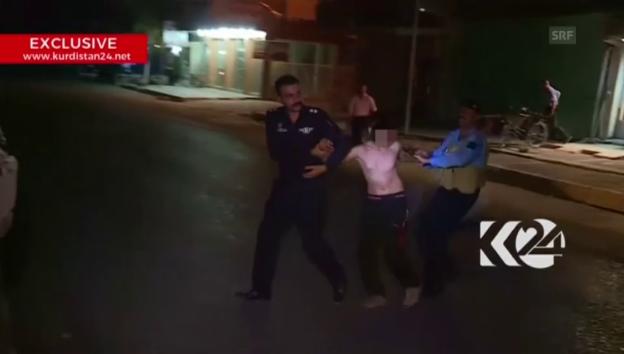 Video «Polizei hält minderjährigen Selbstmordattentäter auf (unkomm.)» abspielen
