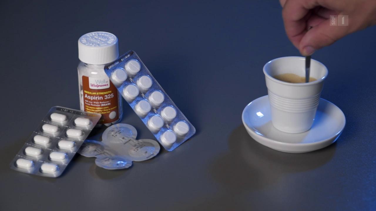 Koffein verstärkt Schmerzmittel
