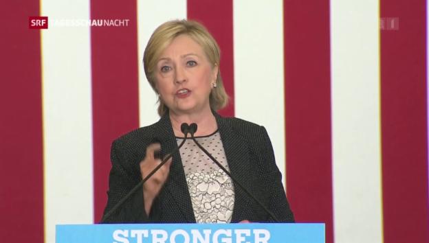 Video «Clinton setzt auf grüne Energie und den Mittelstand» abspielen