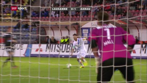 Video «SL: Lausanne - Aarau («sportaktuell»)» abspielen