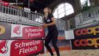 Video «Beachvolleyball: Das aufstrebende Schweizer-Duo Goricanec/Hüberli» abspielen
