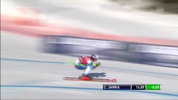 Video «Männer-Super-G in Kvitfjell: Fahrt von Carlo Janka («sportlive»)» abspielen