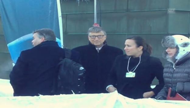 Video «Blick hinter die Kulissen: Gates trifft Bono» abspielen