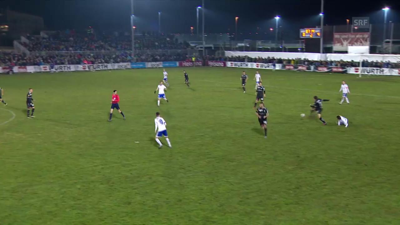 Fussball: Cup-Viertelfinal, Buochs - St. Gallen, Tor Tafer 5:0