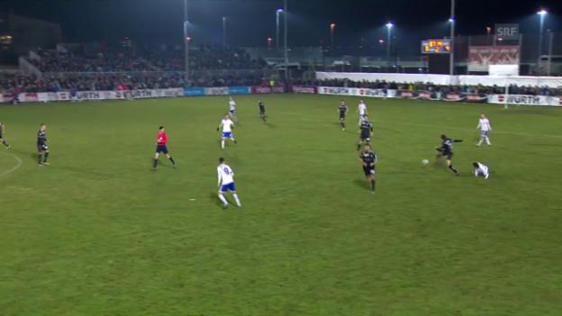Video «Fussball: Cup-Viertelfinal, Buochs - St. Gallen, Tor Tafer 5:0» abspielen