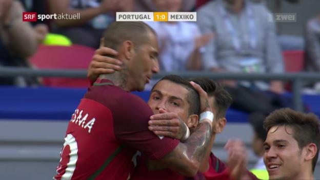 Video «Fussball: Confed Cup, Portugal - Mexiko» abspielen