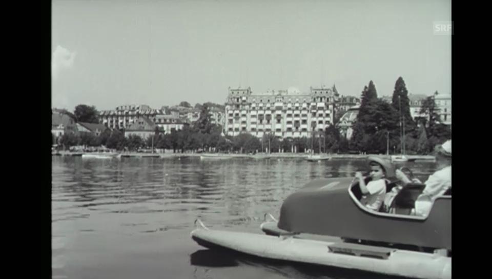 Jordanische Royals zu Besuch am Genfersee (1952)