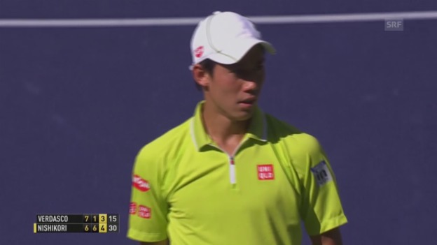 Video «Tennis: ATP Indian Wells, Nishikori-Verdasco» abspielen