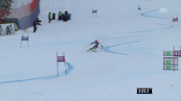 Video «Ski: Bode Miller fährt in Beaver Creek auf Rang 2» abspielen