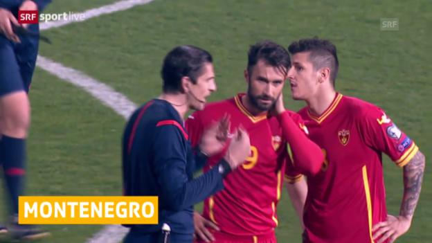 Video «Montenegro mit Niederlage bestraft» abspielen