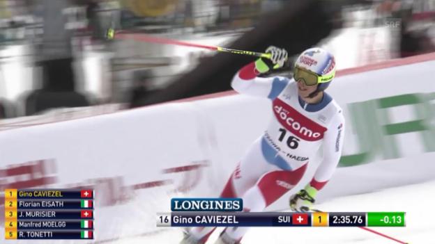 Video «Caviezels Risikofahrten zahlen sich aus» abspielen
