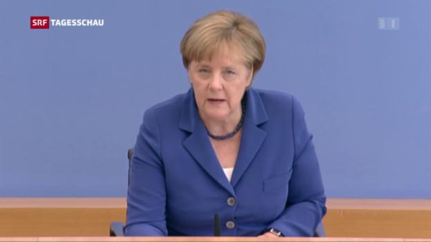 Video «Merkel: «Der Grundsatz: Schutz den Schutzbedürftigen»» abspielen