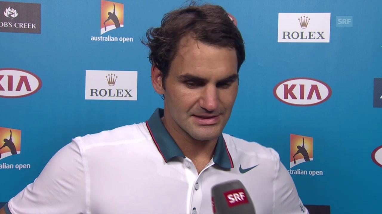 Tennis: Australian Open, 3. Runde, Interview mit Federer