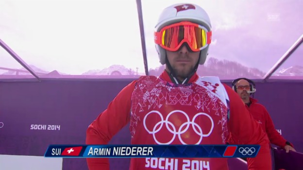 Video «Skicross: Männer, Achtelfinal mit Armin Niederer (sotschi direkt, 20.2.2014)» abspielen