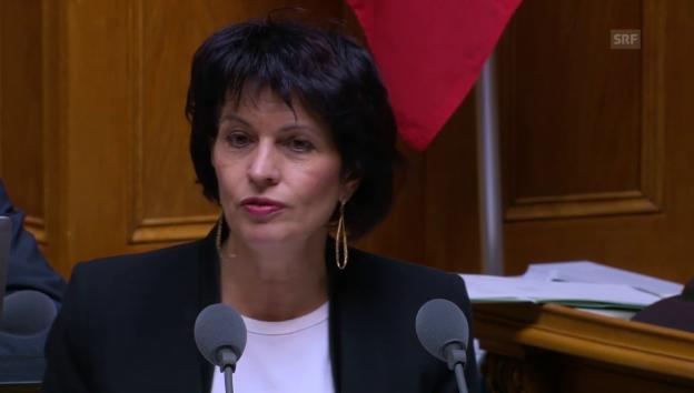 Video «Bundesrätin Doris Leuthard: «Transportpflicht ist unsinnig»» abspielen