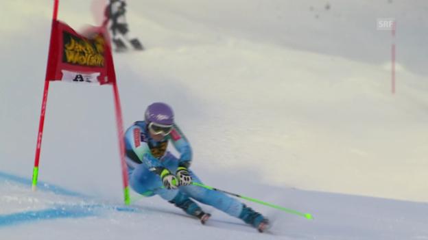 Video «Ski Alpin: Siegesfahrt von Tina Maze» abspielen