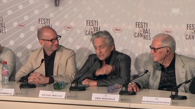 Video «Emotionaler Michael Douglas in Cannes» abspielen
