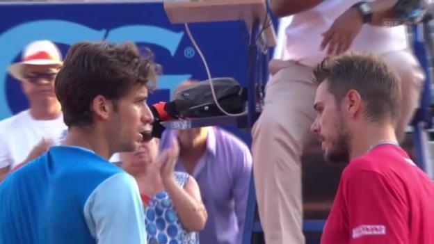 Video «ATP Gstaad: Highlights Wawrinka - Lopez («sportlive»)» abspielen