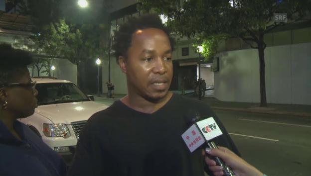 Video «Demonstrant in Charlotte: «Das Video muss veröffentlicht werden»» abspielen