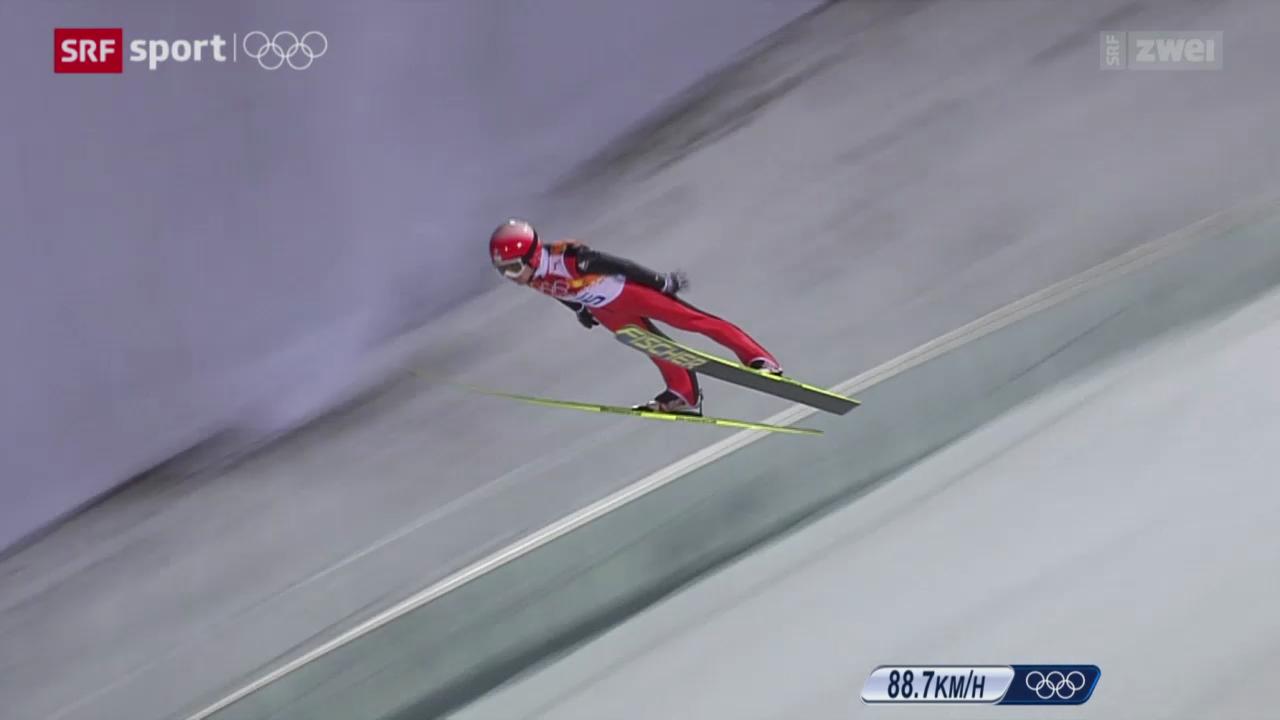 Skispringen: Normalschanze Männer