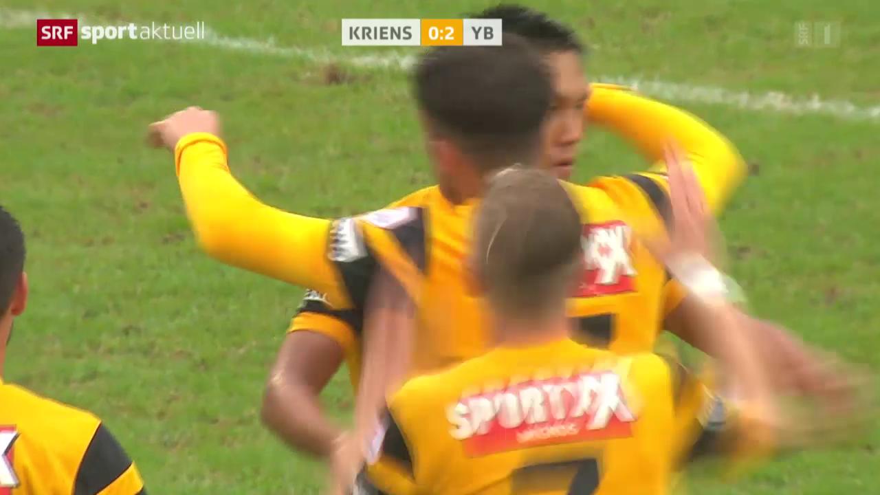Fussball: Cup, Kriens - YB