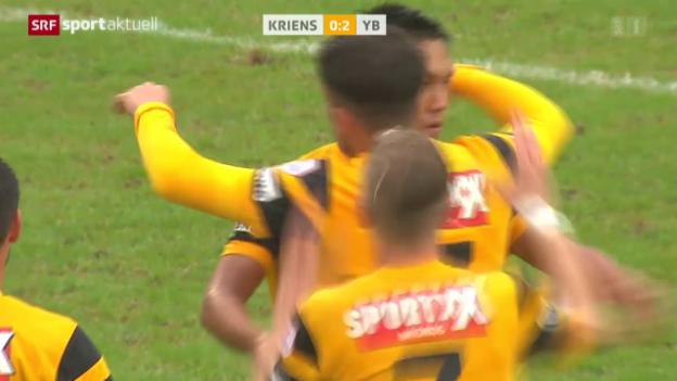 Video «Fussball: Cup, Kriens - YB» abspielen