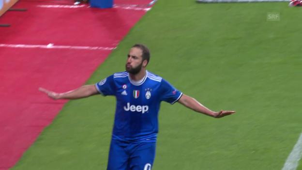 Video «Higuain schiesst Juventus zum Sieg bei Monaco» abspielen
