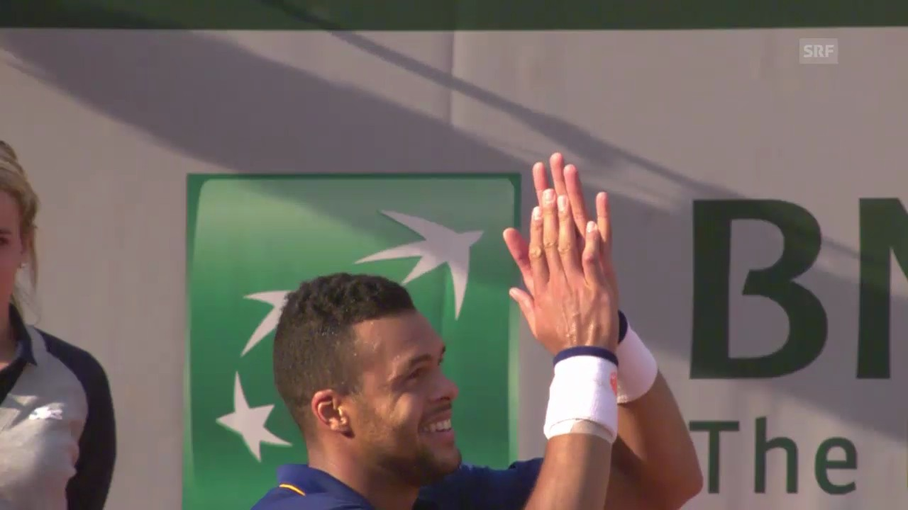 Tennis: French Open, 3. Runde, Highlights Tsonga-Janowicz
