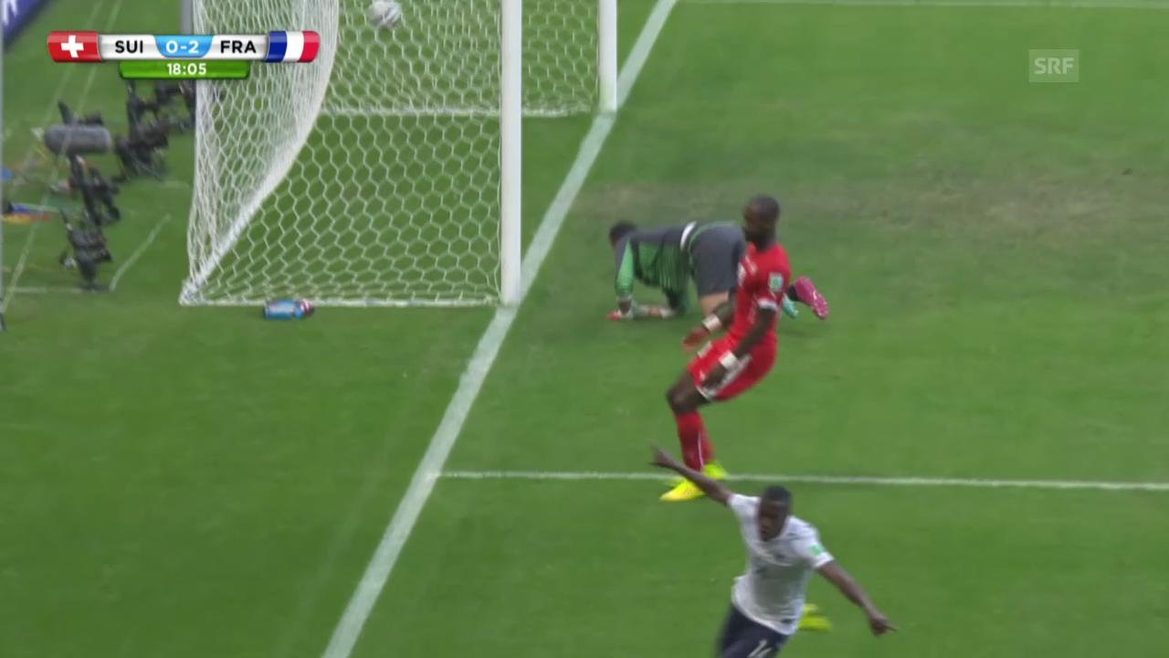 FIFA WM 2014: Schweiz - Frankreich: Doppelschlag gegen die Schweiz