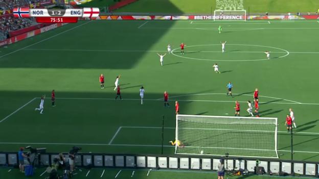 Video «Fussball: Frauen-WM, England - Norwegen, 2:1 von Lucy Bronze» abspielen