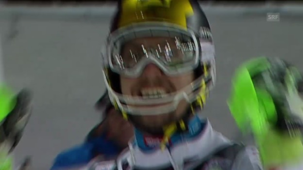 Video «Ski alpin: Slalom in Zagreb, 2. Lauf Marcel Hirscher» abspielen