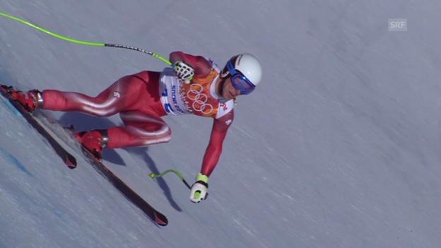 Video «Ski: Zusammenfassung Kombinationsabfahrt der Männer (14.02.2014)» abspielen