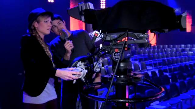 «Kamerakind» Viola beim Kameramann Timo