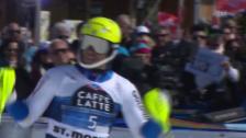 Video «Ski: Myhrer prescht in St. Moritz an die Spitze vor» abspielen