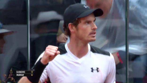 Video «Murray entthront Djokovic in Rom (SNTV)» abspielen