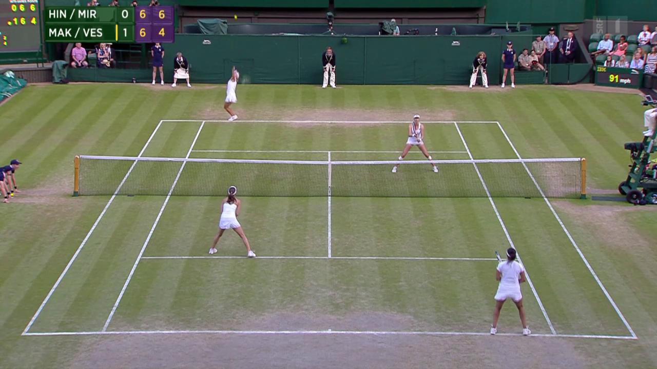 Tennis: Der Doppelfinal mit Hingis/Mirza