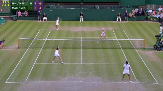 Video «Tennis: Der Doppelfinal mit Hingis/Mirza» abspielen