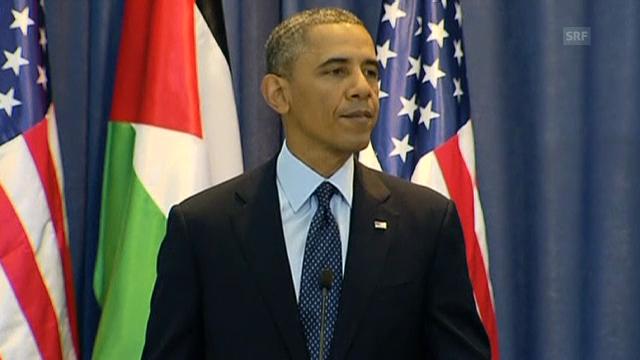 «Die USA setzen sich für einen souveränen Palästinenserstaat ein.» (Engl.)