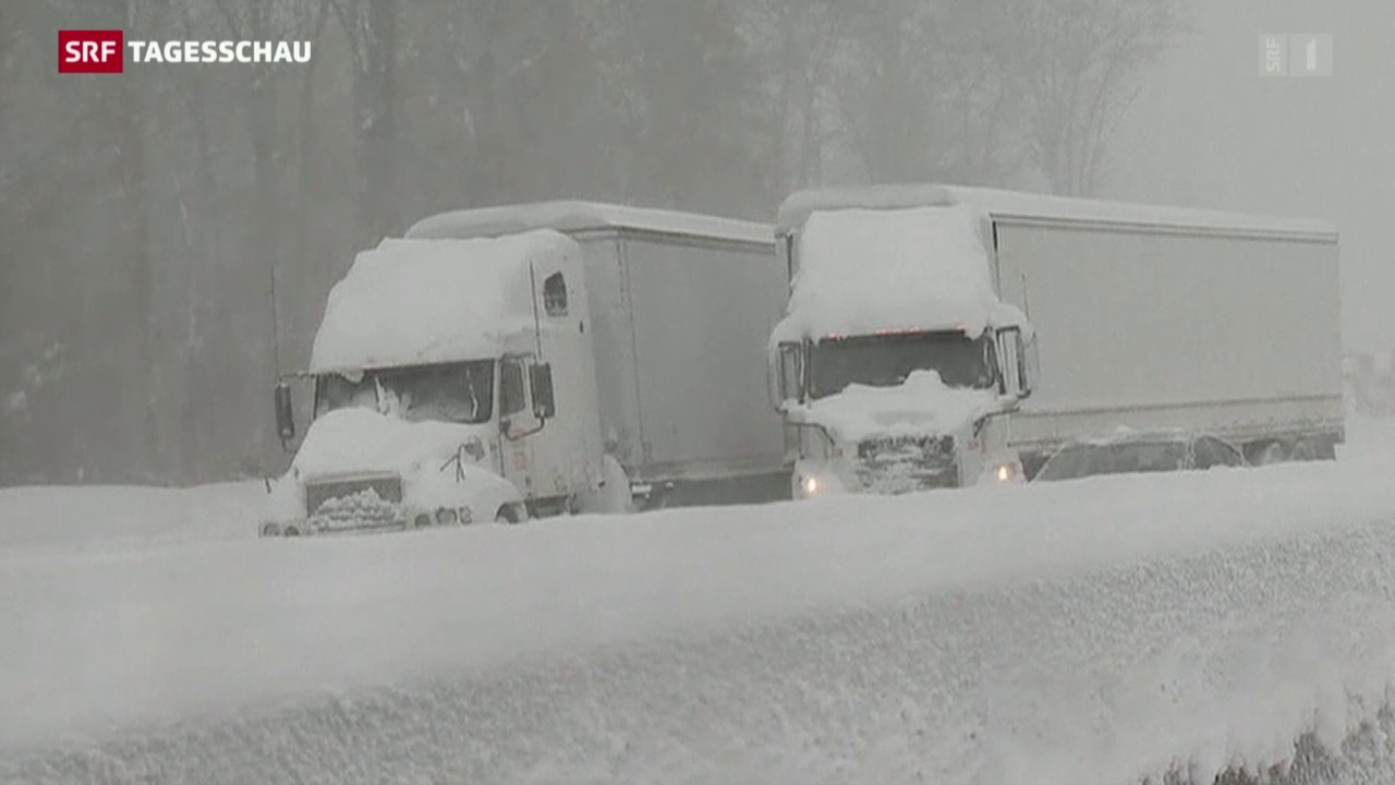 US-Ostküste versinkt im Schnee