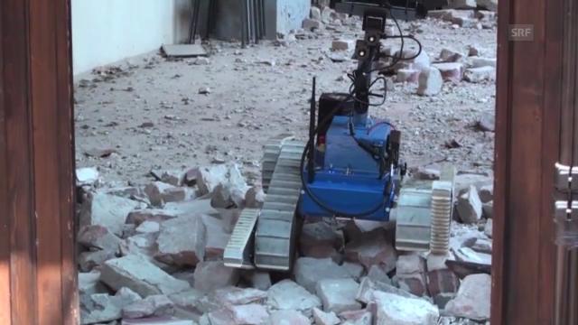 Roboter im Einsatz nach den Beben in Italien (Nifti/Youtube)