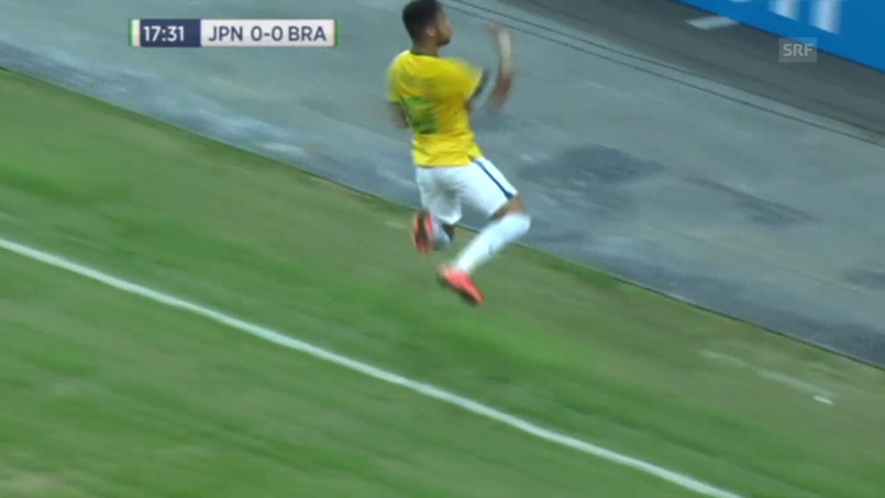 Fussball: Testspiel JPN-BRA, Tore