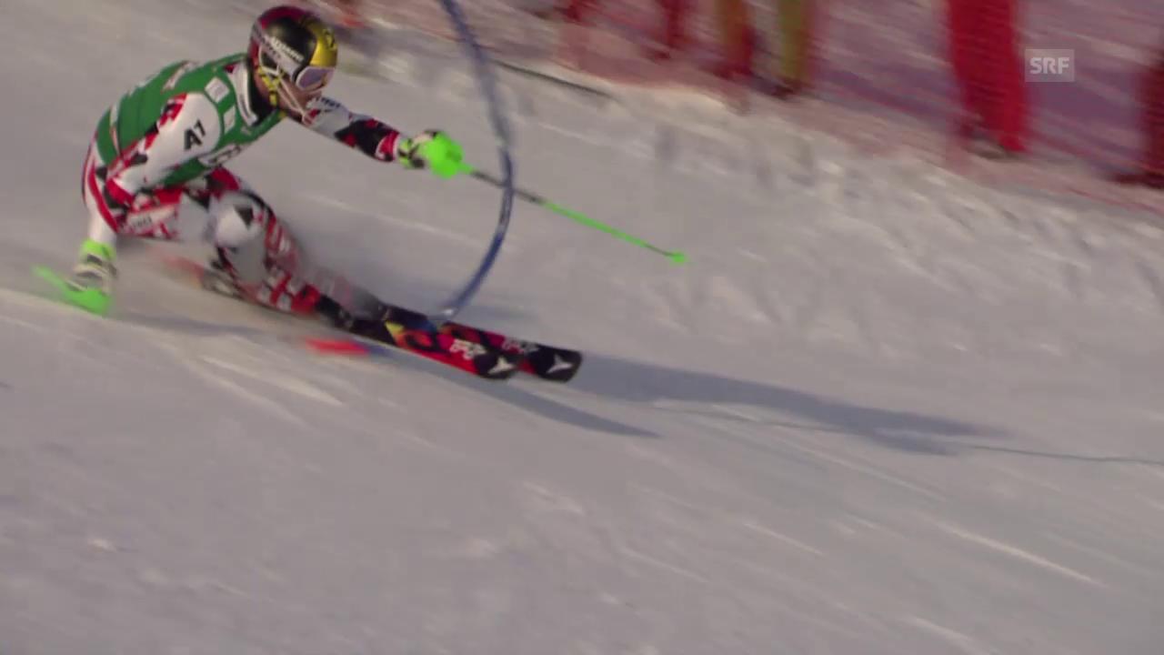 Hirschers fataler Einfädler im Kombi-Slalom