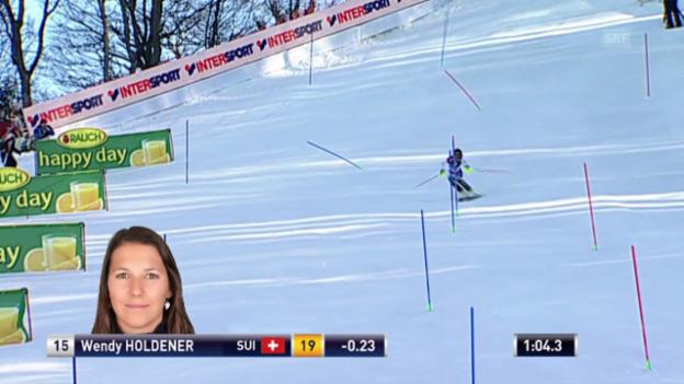 Video «Ski Alpin: Slalom Zagreb, 2. Lauf Wendy Holdener» abspielen