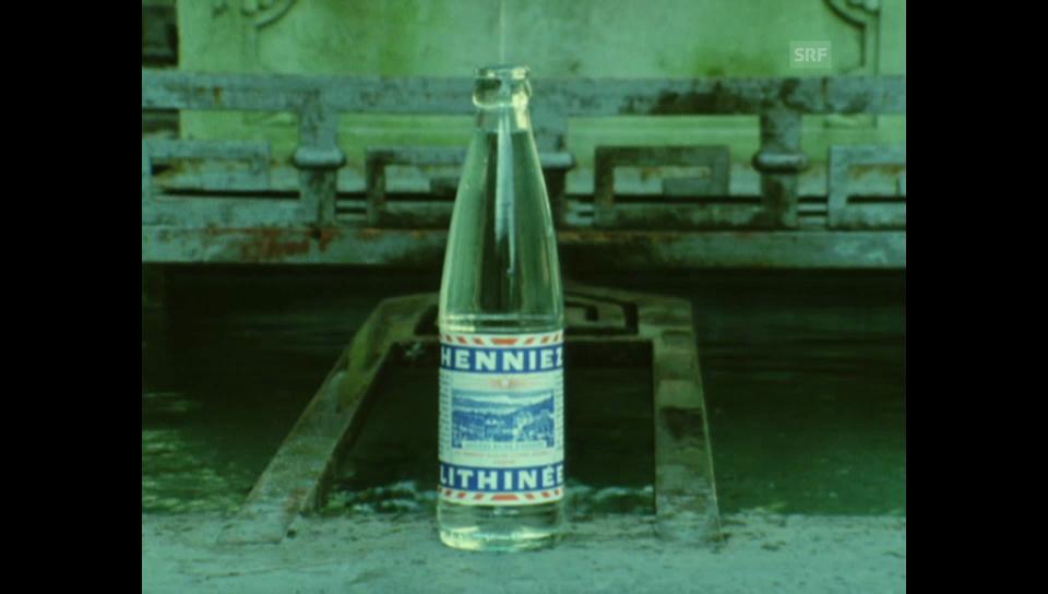 Kassensturz-Beitrag von 1976: «Henniez»-Wasser