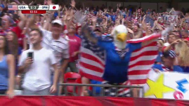Video «Fussball: Frauen-WM, Final, USA - Japan, Furioso nach der Pause» abspielen