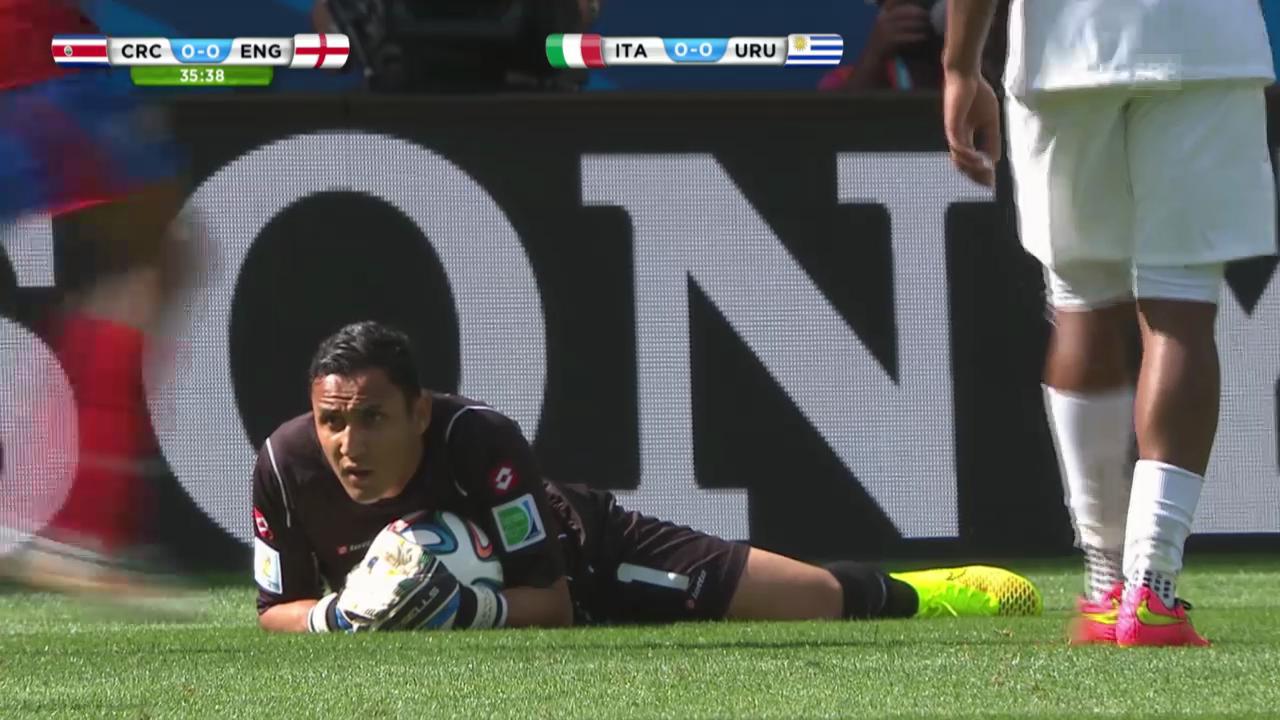 Fussball: Szenen von Keylor Navas im Gruppenspiel gegen England