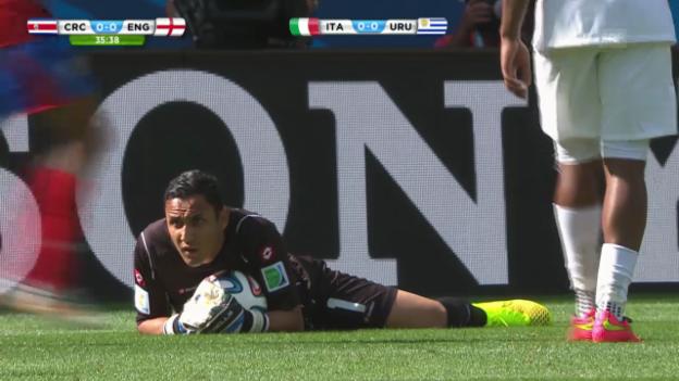 Video «Fussball: Szenen von Keylor Navas im Gruppenspiel gegen England» abspielen