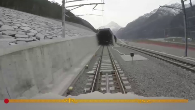 Video «In 57 Sekunden durch den neuen Tunnel» abspielen