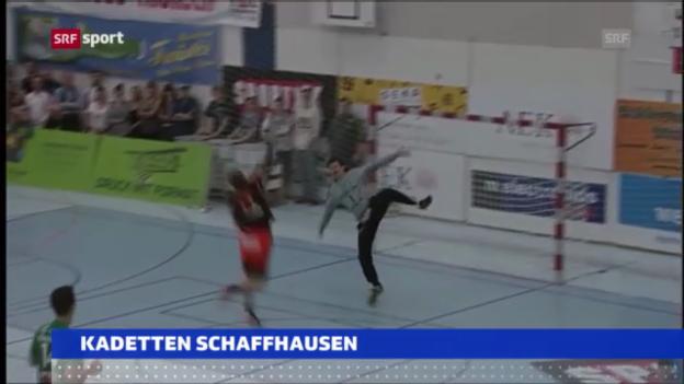 Video «Handball: Wacker Thun - Kadetten Schaffhausen» abspielen
